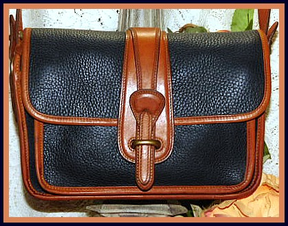 Vintage Dooney Equestrian Pocket Shoulder Bag