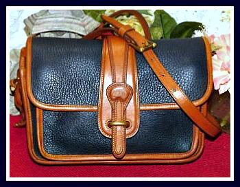 Vintage Dooney Equestrian Pocket Shoulder Bag