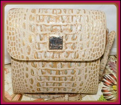 Gorgeous Sophisticated Python Taupe Dooney & Bourke Leather Crossbody Purse-Dooney & Bourke Leather Crossbody Purse