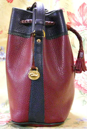 Vintage Dooney and Bourke  All-Weather Leather    Teton Drawstring Dooney Bag
