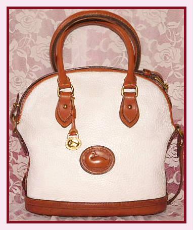 Vintage Dooney Norfolk Satchel Shoulder Bag