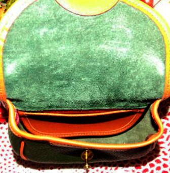 Green Vintage Dooney Cavalry Body Bag