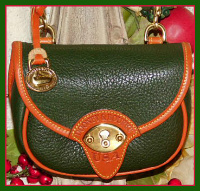 Scottish Emerald Green Vintage Dooney Cavalry Body Bag-Ivy Green Vintage Dooney Cavalry Body Bag