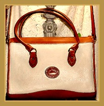 Sophisticated Antique White Vintage Dooney Satchel-Vintage Dooney Satchel,Vintage Dooney and Bourke