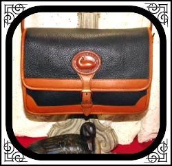 Fancy Licorice Black Surrey Bag Vintage Dooney