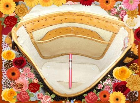 Vintage Dooney Bourke Ostrich Flap Bag