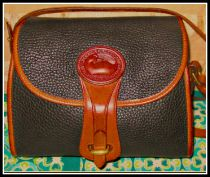 Delicious Black Licorice Essex Shoulder Bag Vintage Dooney-Vintage Dooney and Bourke,