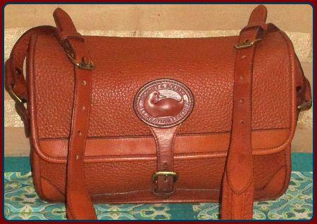 Vintage Dooney and Bourke All-Weather Leather Large Surrey Bag