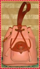Flamingo Buttercream Peach Dooney AWL Sling Bag-Dooney and Bourke, All-Weather Leather,