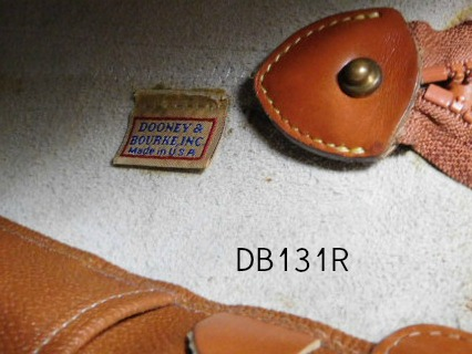 Vintage Dooney and Bourke  All-Weather Leather® Norfolk Bag