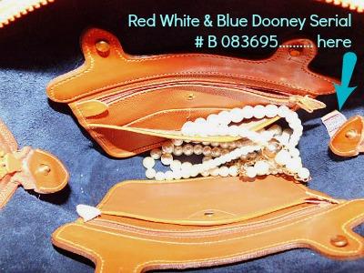 Navy Blue Vintage Dooney Norfolk Bag