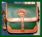 Regal Evergreen Surrey Vintage Dooney Shoulder Bag-Regal Evergreen Surrey Vintage Dooney Shoulder Bag, small surrey