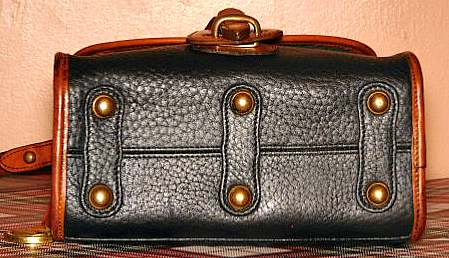 Black Vintage Dooney Essex Shoulder Bag