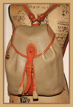 Vintage Dooney and Bourke All-Weather Leather AWL Sherpa Pack