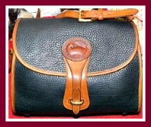 Lip-Smacking Delicious Black Licorice Vintage Dooney Essex Shoulder Bag