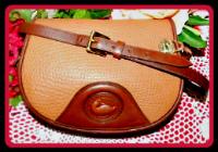 Yummy Cinnamon Sugar Cappuccino Vintage Dooney Bourke Flap Bag-Vintage Dooney Flap Bag,Dooney Bourke Saddle Bag,Burke saddle bag,Vintage Dooney Bourke Flap Bag