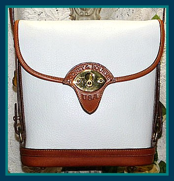 Stunning White Tearose Spectator Vintage Dooney Bag-Spectator Vintage Dooney Bag,Vintage Dooney and Bourke AWL