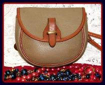 Smoky Taupe Mini Flap Bag Vintage Dooney-Taupe Mini Flap Bag Vintage Dooney