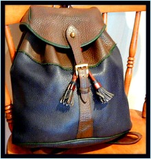 The Big Trail Sherpa Teton Vintage Dooney Backpack-Dooney and Bourke Teton Sherpa Pack
