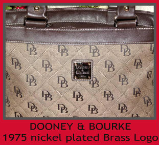 Dooney & Bourke Signature Anniversary Collection  DB Anniversary Print  Linen & Leather Top Handles Satchel