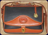 Dress To Impress Navy Carrier Vintage Dooney Shoulder Bag