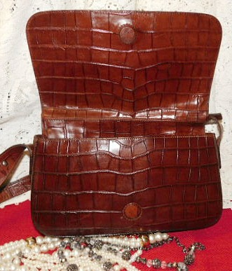 Vintage Dooney and Bourke Alligator Bayou Bag