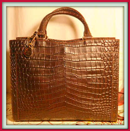 Vintage Dooney and Bourke  Exotic Sumptuous Bayou Collection  Alligator Embossed Leather