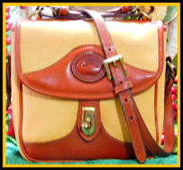 Flamboyant Tuscan Sun Square Carrier Bag Vintage Dooney AWL-Vintage Dooney and Bourke