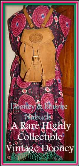 Saddle Tan Dooney & Bourke Nubuck Back Pack