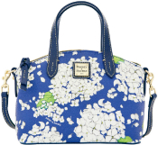 Peacock Blue Hydrangea Ruby Satchel Shoulder Bag Dooney Bourke NEW!-Blue Hydrangea Ruby Satchel Shoulder Bag Dooney Bourke, Blue Hydrangea Ruby Satchel Shoulder Bag