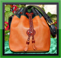 Delicious Caramel Dooney Teton Drawstring Bag-Dooney Teton Drawstring Bag,Vintage Dooney and Bourke 