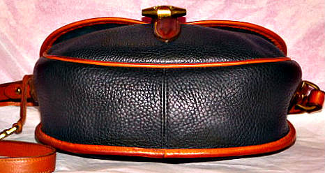 Dooney and Bourke All Weather Leather Large Saddle Bag   Outback Collection   Loden Style Saddle Bag