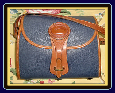 Moonlit Slate Blue Essex Vintage Dooney Shoulderbag-Dooney and Bourke