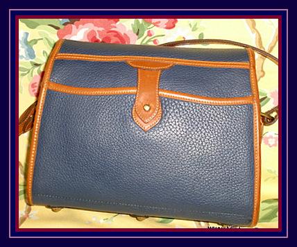 Slate Blue Essex Vintage Dooney Shoulderbag