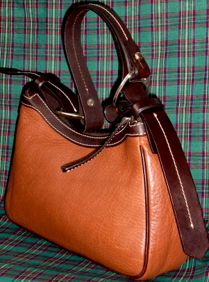 Dooney and Bourke  All-Weather Leather  Double Pocket Hobo  Milk Chocolate Brown