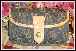 Breezy New Dooney & Bourke Blue Flap Wristlet-Dooney & Bourke,  New with tags Dooney wristlet,  Blue Flap Wristlet,