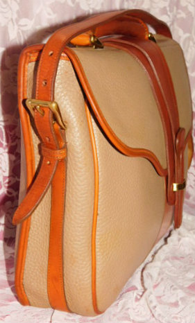 Authentic Dooney & Bourke AWL  Vintage Equestrian Collection  Briefcase