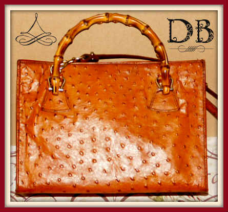 Dooney and Bourke  Ostrich Embossed Leather  Satchel/Shoulder Bag
