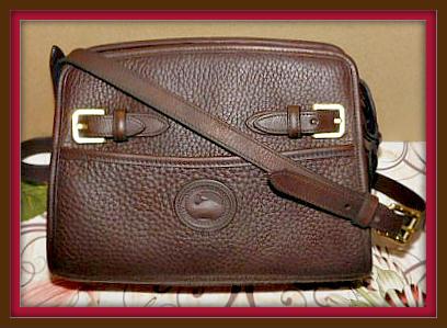 Vintage Dooney & Bourke AWL  Zip-Top Buckle Bag