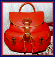 Irresistible Scarlet Crimson Dooney Canyon Backpack AWL-Dooney and Bourke AWL