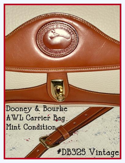 vintage dooney and bourke carrier bag bone color