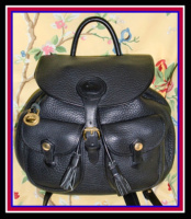 SOLD!!! Beautiful Large Black Dooney Backpack All Weather Leather-Beautiful, Large, Black, Dooney, Backpack, All, Weather, Leather, dooney and bourke, , nopin
