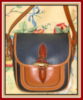 SOLD! Tres Belle Vintage Outback Dooney & Bourke All Weather Leather Bag-Outback ,Navy ,Blue ,Dooney, & ,Bourke, All Weather Leather, Bag,