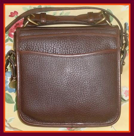 vintage dooney and bourke brown carrier bag