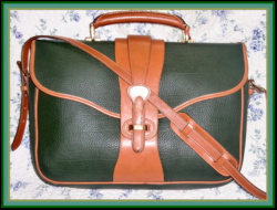 Exceptional Fir Green Legal Brief Dooney & Bourke AWL-Legal, Brief, Dooney & Bourke, AWL,Vintage ,Equestrian ,Collection,