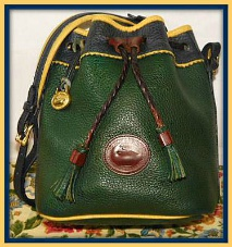 Irresistible Rainbow Teton Drawstring Mini Shoulder Bag-Vintage Dooney and Bourke