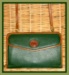 Lush Fir Green Zip-Along Wallet Dooney Bourke Bag-Vintage, Dooney, Bourke,