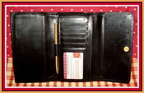 Vintage Dooney and Bourke Black Wallet