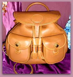SOLD!!! Honey Glove Leather Backpack Dooney Bourke-Pristine,Honey Tan, Dooney, Bourke ,Backpack, drawstring, saddle bag, purse, glove leather,, nopin