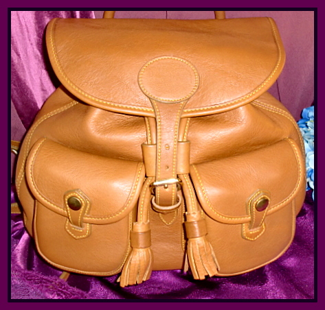 Pristine Tan Dooney Bourke Backpack | Dooney & Bourke Leather Back ...